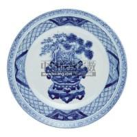 A BLUE AND WHITE DISH -  - 中国瓷器工艺品 - 2011春季拍卖会 -收藏网