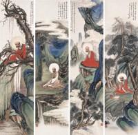 佛像 四屏 设色纸本 - 4389 - 中国当代水墨 - 2006秋季拍卖会 -收藏网