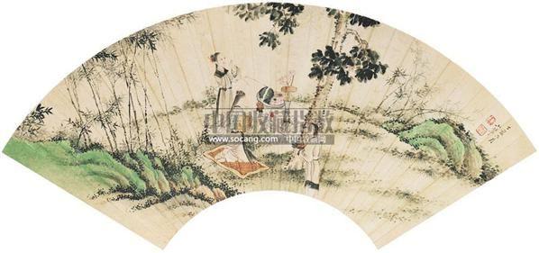 人物 扇面 设色纸本 - 4572 - 中国书画 - 2011春季拍卖会 -收藏网