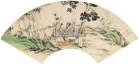 人物 扇面 设色纸本 - 陈小翠 - 中国书画 - 2011春季拍卖会 -收藏网