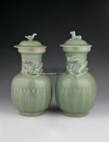 龙纹盖罐 (一对) -  - 青瓷专场 - 2006年夏季拍卖会 -中国收藏网