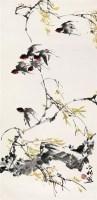 柳燕 立轴 设色纸本 - 周之林 - 中国书画 油画 - 2007迎春艺术品拍卖会 -收藏网