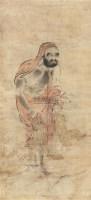 一苇渡江达摩图 立轴 纸本 -  - 中国古代书画、书法专场 - 2011首届春季拍卖会 -收藏网