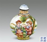 铜胎珐琅鼻烟壶 -  - 中国玉器杂项专场 - 2011首届秋季拍卖会 -收藏网