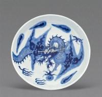 青花过墙龙盘 -  - 梁溪雅玩 - 2011年夏季拍卖会 -中国收藏网
