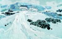 仙女山 雪6 布面 油画 - 154724 - 名家西画 当代艺术专场 - 2008年春季拍卖会 -收藏网