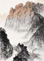 红色矿山 立轴 设色纸本 - 魏紫熙 - 中国书画(一) - 2010常州三周年艺术品拍卖会 -收藏网
