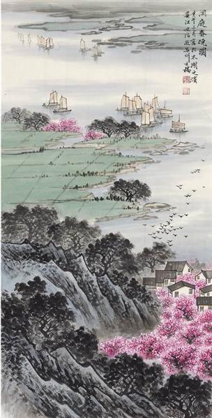 宋文治洞庭春曉 -  - 现当代书画名家专场 - 2008秋季艺术品拍卖会 -收藏网