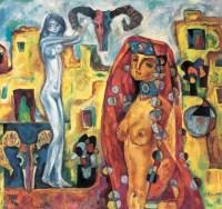 少女 布面 油画 - 刘秉江 - 中国现当代艺术 - 2007迎春拍卖会 -收藏网