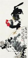 大吉图 立轴 设色纸本 - 乍启典 - 中国书画 - 2008第二季艺术品拍卖会 -中国收藏网