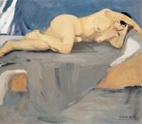 人体 布面 油画 - 王琨 - 中国现当代艺术 - 2007迎春拍卖会 -收藏网