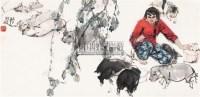 牧猪图 镜片 设色纸本 - 20236 - 茶语轩书画专场 - 2011年春季中国书画拍卖会 -中国收藏网
