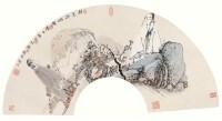 唐勇力 庚辰(2000年)作 秋色深野图 扇面 设色纸本 - 117435 - 真逸轩藏画(小品) - 2006金秋艺术精品拍卖会 -收藏网
