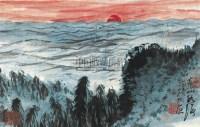 苍山如海 镜框 设色纸本 - 116006 - 浙江四大家专场 - 2011年春季艺术品拍卖会 -收藏网
