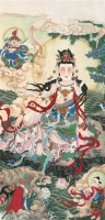 佛像 镜片 纸本 - 刘西古 - 中国书画 - 2011中国艺术品拍卖会 -收藏网