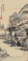 秋溪垂钓 立轴 设色纸本 - 118955 - 中国书画 - 2011秋季拍卖会 -收藏网