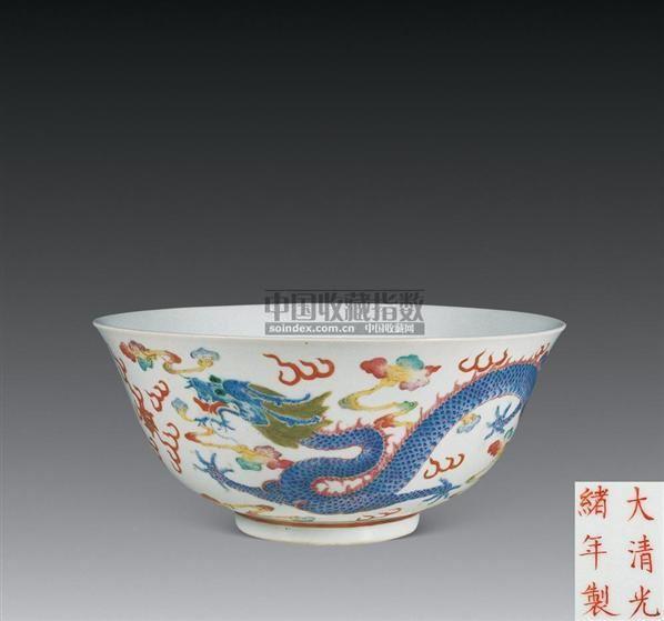 斗彩荷花纹盘 -  - 珍瓷雅玩 - 2007春季艺术品拍卖会 -收藏网