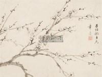 梅花 镜心 水墨纸本 -  - 中国书画 - 中国书画及艺术品拍卖会 -收藏网