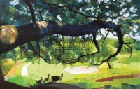 同在绿荫下 油画 框 - 153359 - 油画 中国书画 杂项 - 2008欢乐节艺术品拍卖会 -中国收藏网