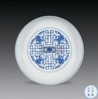 青花寿桃纹盘 -  - 古代瓷器工艺品专场 - 2008春季艺术品拍卖会 -收藏网