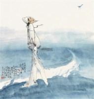 人物 立轴 - 沈道鸿 - 中国书画(二) - 2011金秋拍卖会 -收藏网