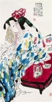 玉楼醉春图 镜框 设色纸本 - 5525 - 中国书画 - 2011秋季艺术品拍卖会 -收藏网