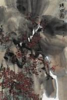 秋山图 立轴 设色纸本 - 116723 - 近现代书画 - 2007秋季中国书画名家精品拍卖会 -中国收藏网