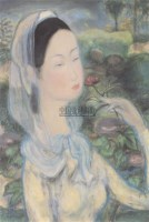 LE PHO Jeune fille ? la fleur -  - 现代及当代东南亚艺术 - 2007春季艺术品拍卖会 -收藏网