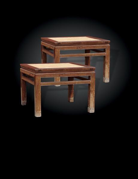 红木禅凳一对 - - 古典家具专场 - 中矿拍卖有限公司春季艺术品拍卖会
