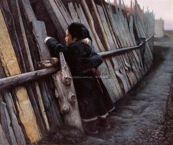 艾轩、有香客自路边经过 - 6025 - 中国油画专场 - 2006秋季艺术品拍卖会 -收藏网
