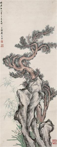 花卉 立轴 设色纸本 - 139999 - 中国书画(一) - 2011年夏季拍卖会 -收藏网