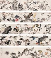 朱梦庐(1826-1900)百禽图 - 146565 - 中国书画(二) - 2007秋季艺术品拍卖会 -收藏网