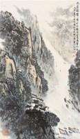 李白诗意图 立轴 设色纸本 - 5002 - 书画杂件 - 2007迎春文物艺术品拍卖会 -收藏网