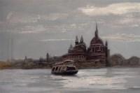 杜建其 远眺威尼斯 布面 油画 -  - 中国油画 - 2006年秋季拍卖会 -收藏网