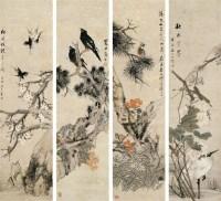 朱梦庐(1826-1900)花鸟四屏 堂屏 - 146565 - 中国书画(一) - 2007秋季艺术品拍卖会 -收藏网
