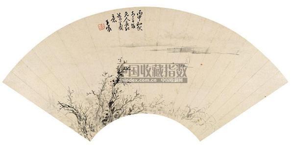 王宸 丙申(1776年)作 山水 扇面 纸本 - 5289 - 中国书画(二) - 2006年第4期嘉德四季拍卖会 -收藏网