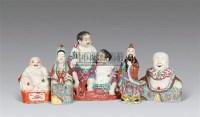 粉彩弥勒、观音、和合二仙 (共五件) -  - 瓷器及工艺品 - 2011春季拍卖会 -收藏网