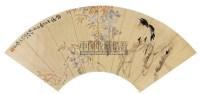 花鸟 扇面 设色纸本 - 李景林 - 中国书画专场 - 2008迎春大型艺术品拍卖会 -收藏网