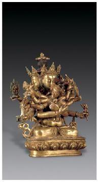 铜鎏金密集金刚像 -  - 佛像唐卡 - 2007春季艺术品拍卖会 -收藏网