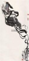 飞天 立轴 设色纸本 - 刘汉 - 中国书画 - 2006年迎春拍卖会 -收藏网