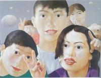 不安的广场 布面 油画 - 罗发辉 - 中国油画雕塑 - 2007秋季艺术品拍卖会 -收藏网