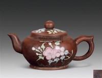 加彩花卉紫砂壶 -  - 杂项 玉石 - 2011年春季拍卖会 -中国收藏网