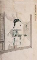 人物 立轴 设色纸本 - 127629 - 中国书画专场 - 迎新春书画精品拍卖会 -中国收藏网