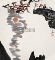 观月图 镜心 设色纸本 - 刘二刚 - 中国当代书画 - 2006春季大型艺术品拍卖会 -收藏网