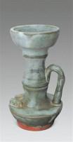 铜红釉竹节灯盏 -  - 古董珍玩 - 2012迎春艺术品拍卖会 -收藏网