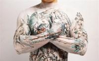 中国山水纹身二套 彩色放大 - 黄岩 - 影像艺术 - 2007春季拍卖会 -收藏网