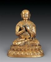 清中期 铜鎏金上师像 -  - 瓷杂专场 - 2006年秋季拍卖会 -收藏网