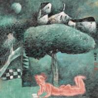 龙瑞 山庄消夏 立轴 设色纸本 - 119279 - 中国书画 - 2006首届艺术品拍卖会 -收藏网