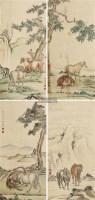 骏马 四屏 纸本 - 116774 - 中国书画(二) - 2012迎春艺术品拍卖会 -收藏网