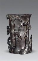 紫檀松竹梅花插 -  - 古董文玩 - 2011春季艺术品拍卖会(一) -收藏网
